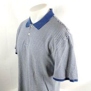 Charles Tyrwhitt Mens Polo Rugby Shirt Large Gray